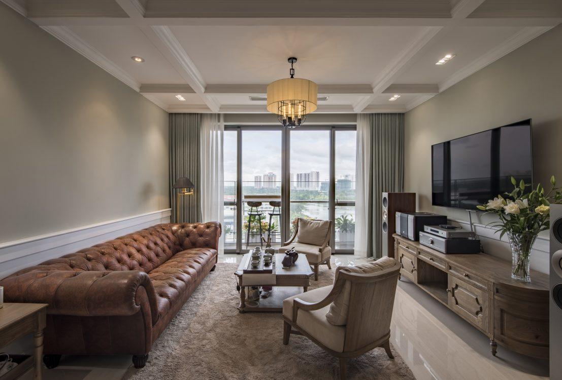 Thiết kế căn hộ chung cư Tân cổ điển