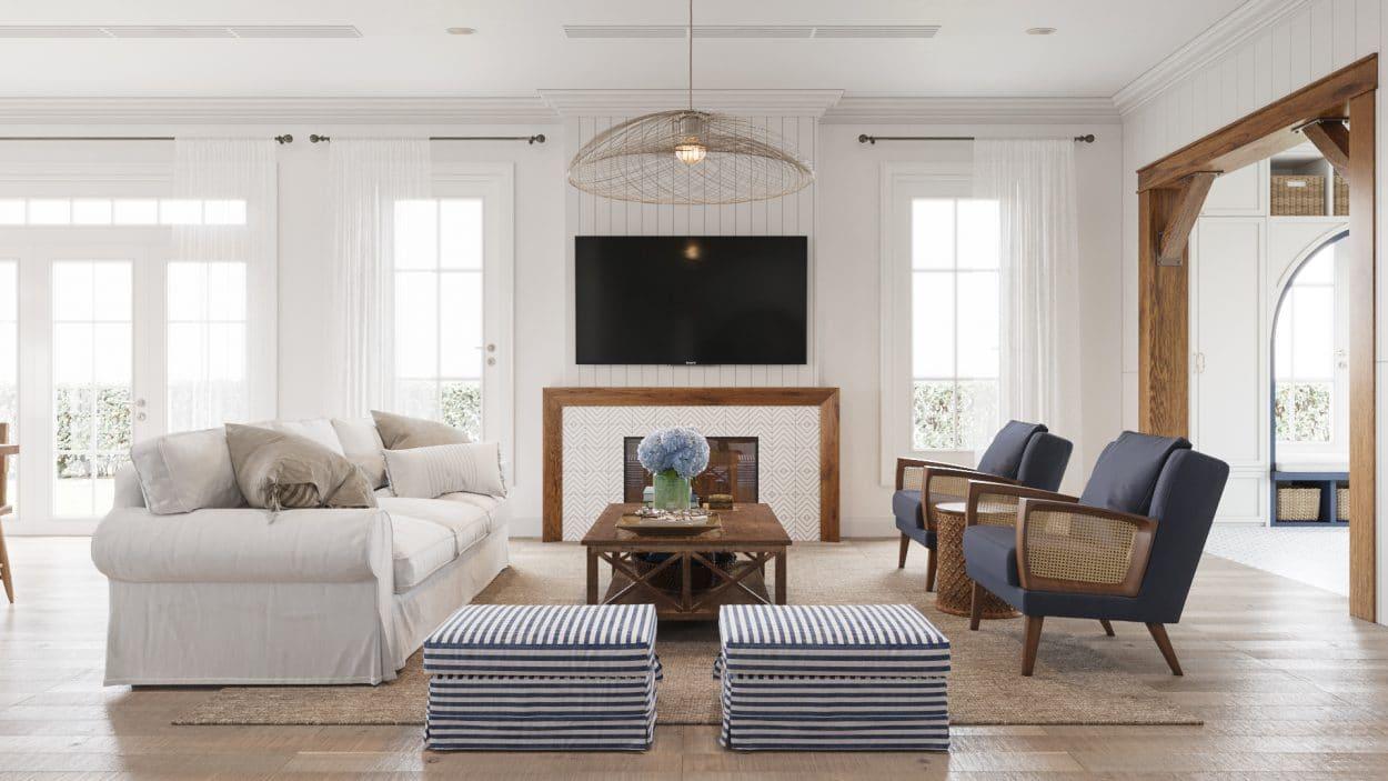 Thiết kế nội thất biệt thự theo phong cách coastal design style